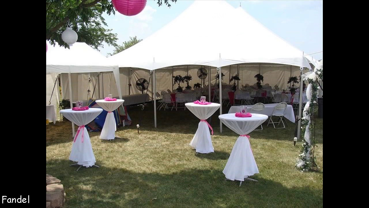 Simple Wedding Party Tent Decorations & Simple Wedding Party Tent Decorations - YouTube