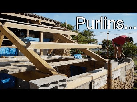 DIY ROOF: WHAT ARE PURLINS?? - YouTube