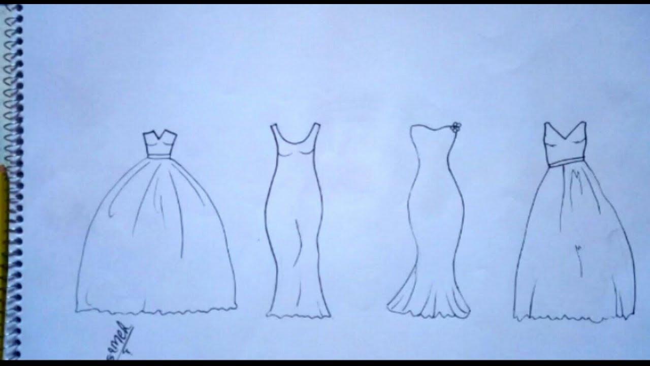 تعليم الرسم تصميم ازياء رسم فساتين زفاف خطوة بخطوة للمبتدئين