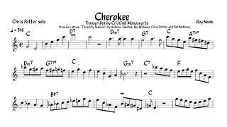 Chris Potter - Cherokee (transcription)
