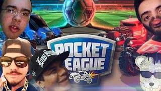 ROCKET LEAGUE COM RATO, LUDGERO, STEREO E SAN #pt1 (PT-BR GAMEPLAY EM PORTUGUES)