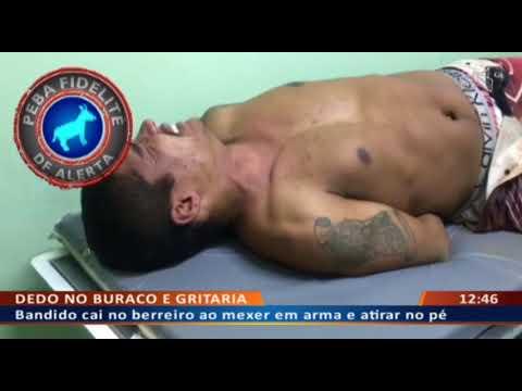 DF ALERTA - Bandido cai no berreiro ao mexer em arma e atirar no pé