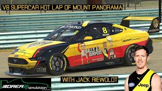 "Jack Riewoldt commentates 'Hot Lap"" around Bathurst in a V8 Supercar"
