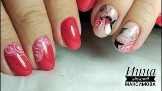 ❤ КАРТИНА на ногтях ❤ ВЕСЕННИЙ яркий дизайн ❤ LOVELY ❤ ЛАСТОЧКА на ногтях ❤