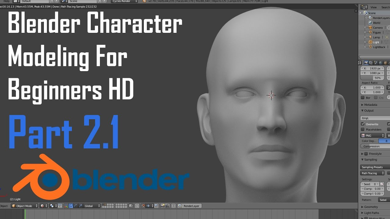 Blender Character Modeling 8 Of 10 : Blender character modeling for beginners the nose youtube