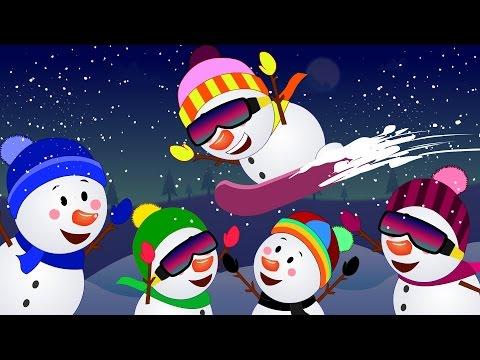 Five little Snowmen  Christmas Song  kids song