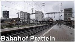 Zugverkehr am Bahnhof Pratteln, Schweiz