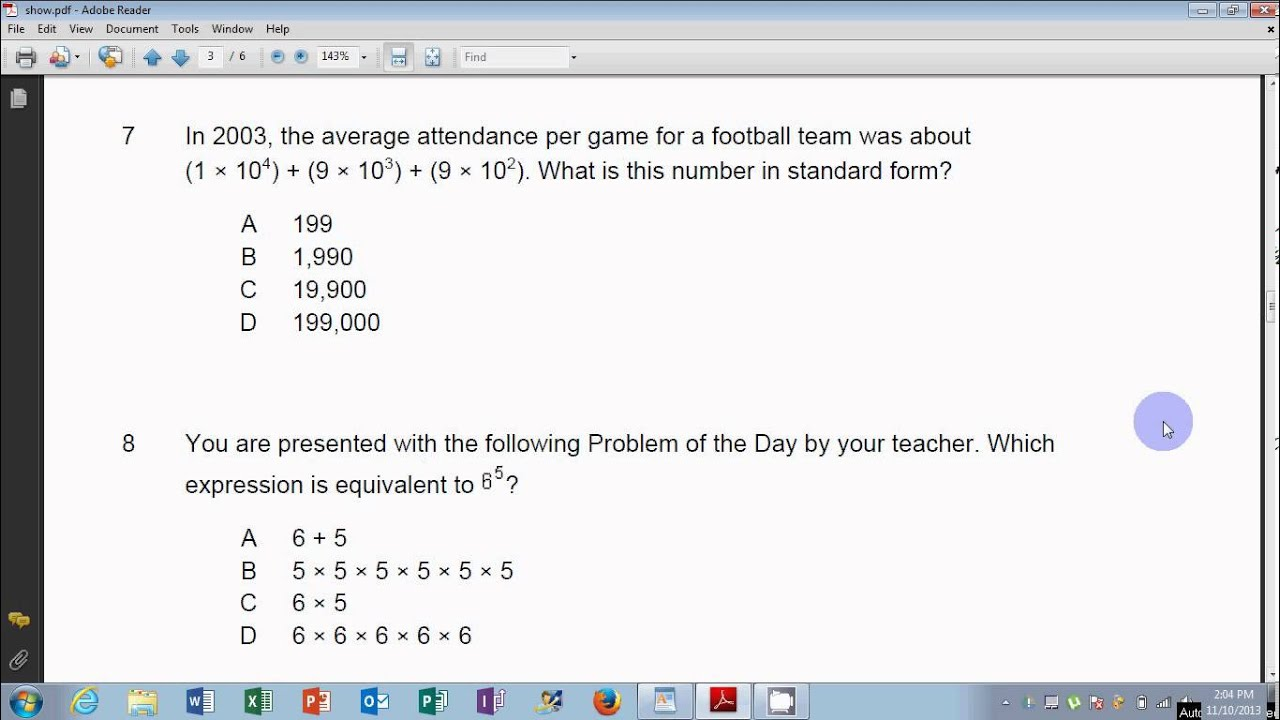 medium resolution of enVision Math Grade 6: Topic 1 Test Common Core (HD) - YouTube