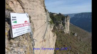 La via ferrata rénovée du Boffi    Millau    Aveyron  2015