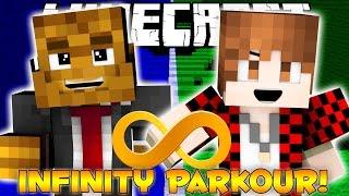 Minecraft INFINITY PARKOUR 1 VS 1 (RACE CHALLENGE) w/ JeromeASF & BajanCanadian