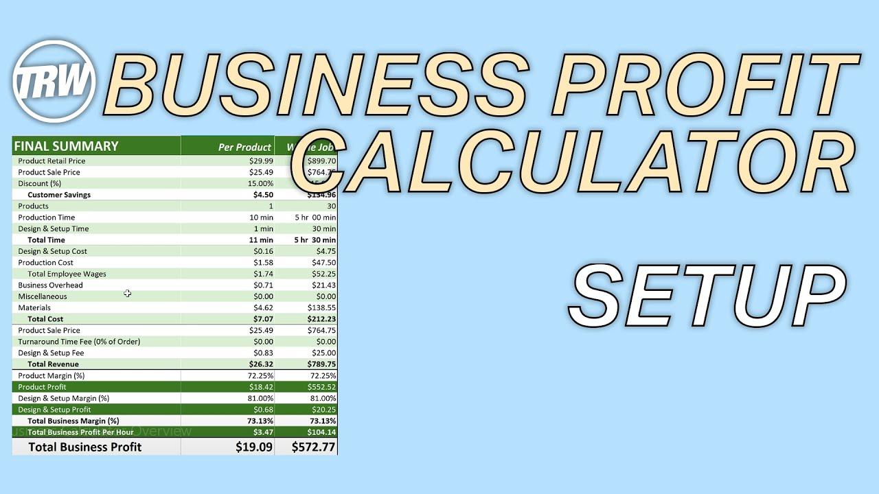 TRW Business Calculator Setup