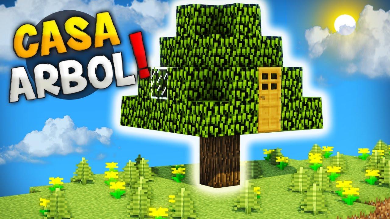 Minecraft como hacer una casa dentro de un rbol vive - Como construir una casa en un arbol ...