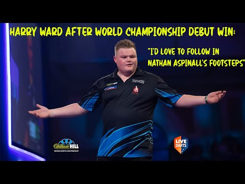 """Harry Ward after World Championship debut win: """"I'd love to follow in Nathan Aspinall's footsteps"""""""