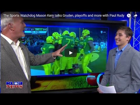 'The Sports Watchdog' Mason Kern on KUSI-TV San Diego Covering Gruden, Playoffs and More