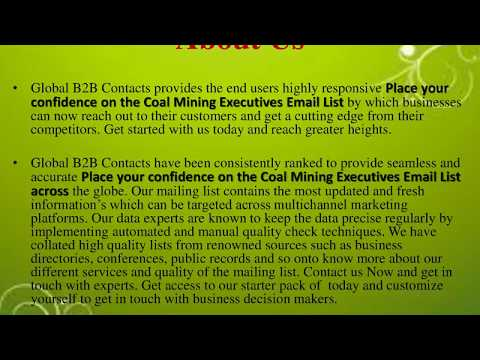 Place your confidence on the Coal Mining Executives Email List