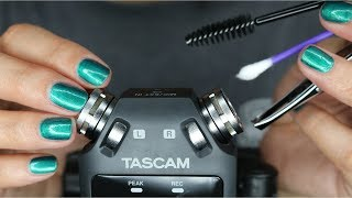 ASMR Tingly Tascam Triggers || Ear Cleaning, Tweezers, Sticky Sounds, Spray Bottle ♡ (No Talking)