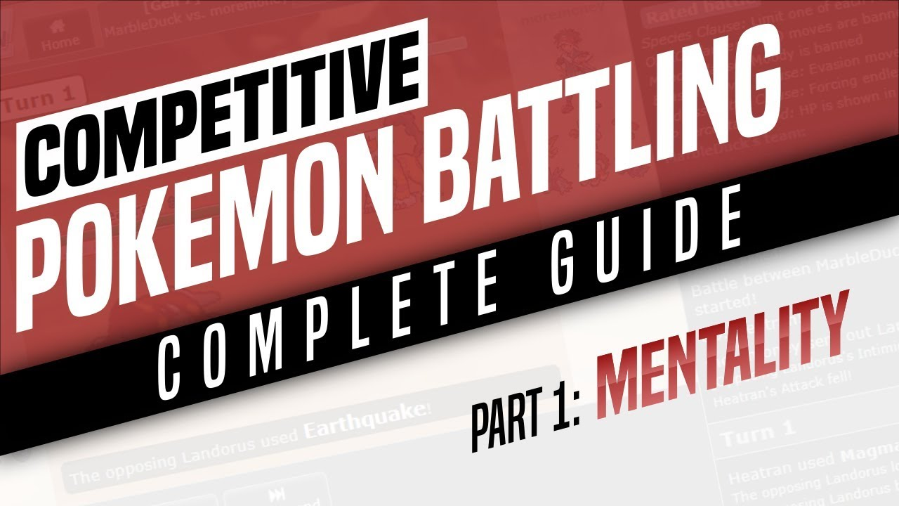 An idiot-proof guide to competitive pokemon: pokemon.