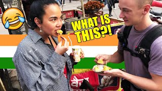 Foreigners Try Weird Indian Street Food ????  Delhi Vlog