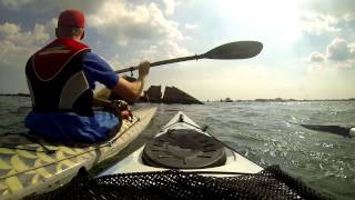 Kayaking Langstone Harbour and round the broken Phoenix Breakwater