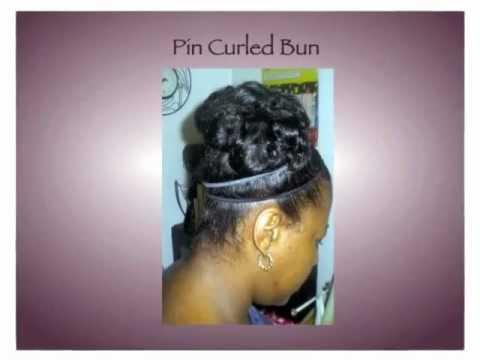 Natural Hair Bun Protective Styles