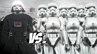 DARTH VADER VS STORMTROOPERS - EPIC BATTLE