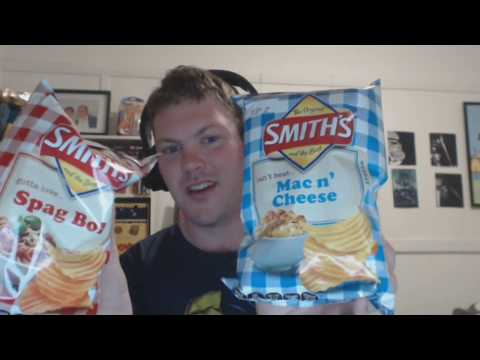 Smith Chips Taste Test Spag Bol And Mac And Cheese