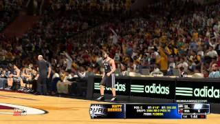 NBA2K14 SPURS vs HEAT FIRST QUARTER PC GAMEPLAY