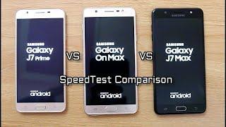 Samsung On Max Vs J7 Max Vs J7 Prime SpeedTest Comparison I Hindi