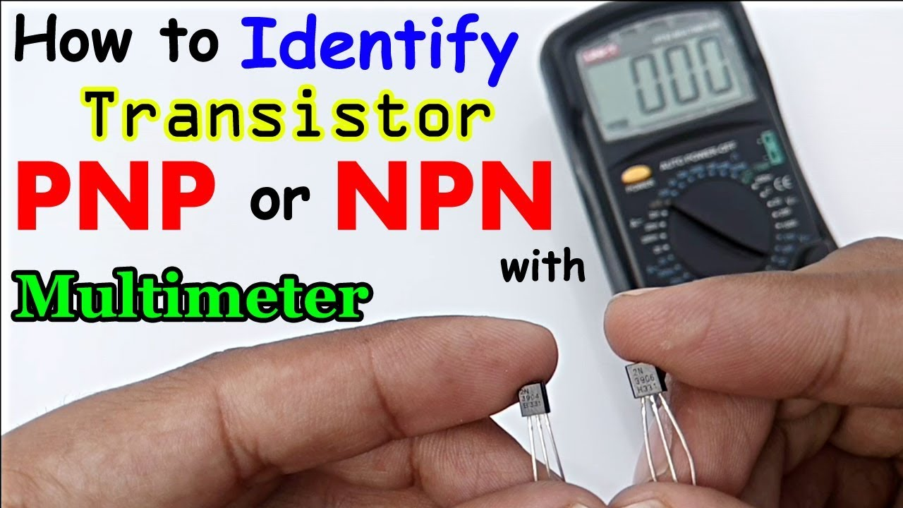 how to check transistor is npn or pnp