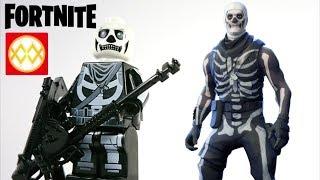 Lego Fortnite Skull Trooper Skin Unofficial Custom Minifigure by WM Toy Figure