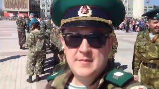 Ветераны Пограничники парад 9 мая 2016 Каменск-Уральский