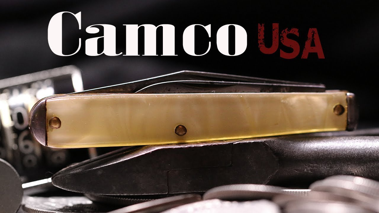 Vintage Camco Camillus Celluloid Mother Of Pearl Jack Pocket Knife Youtube