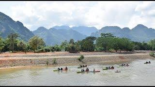 Vang Vieng Trip - Tubing Song River in Vang Vieng , Laos Adventure 2018