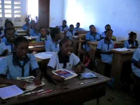 School classroom in Malabo, Bioko Island, Equatorial Guinea