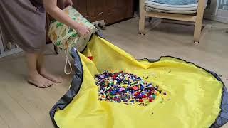 시벅스 토이백 장난감 수납함 블럭 정리함 레고 매트 트…