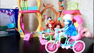 Играем в домик Энчантималс и фургон с мороженным