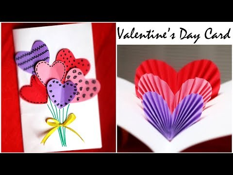 DIY Valentine Card | Handmade Popup Card for Valentine's Day | 3D Hearts Card [REUPLOAD]