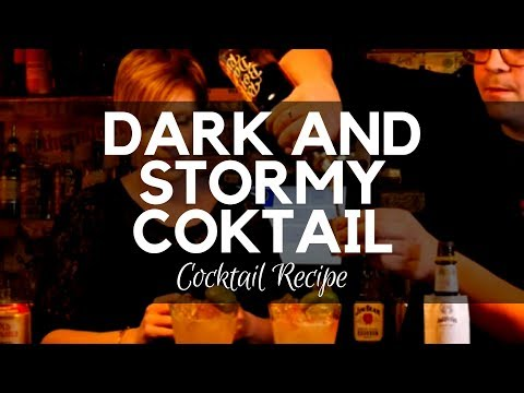 Dark and Stormy Cocktail at The Spaniard Belfast - Dark Rum - Fresh Lime and Ginger beer - Recipes