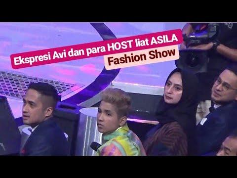 Ekspresi para HOST ketika Asila Tampil FASHION SHOW