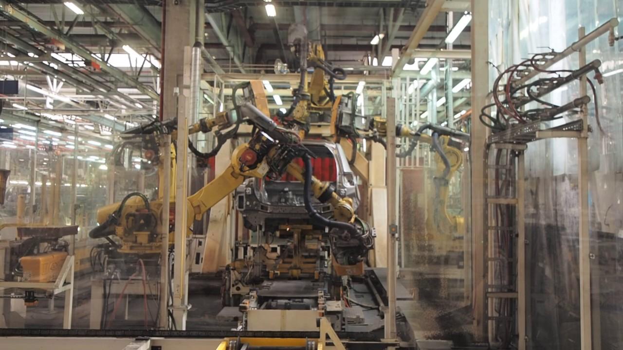 Сварка кузова Mitsubishi Outlander роботом Body Plexor