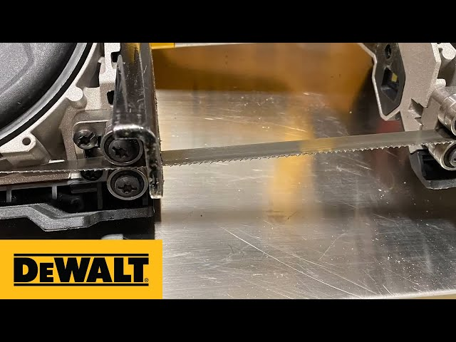 DEWALT® Product Guide - DCS376 Bandsaw Blade Installation and Removal