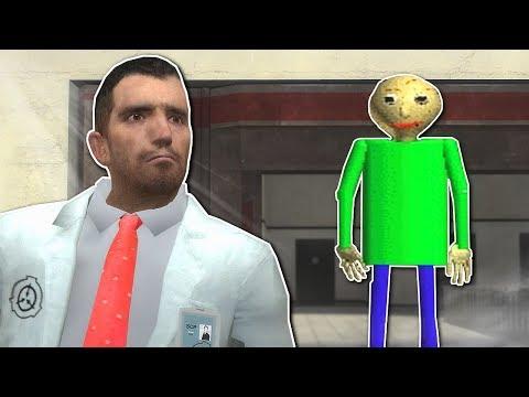 BALDI INSIDE SCP FACILITY?! - Garrys Mod Gameplay - Gmod Baldis Basics Survival