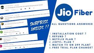 Jio Fiber New Plans FAQ - Installation cost, Refund , 399 Plan Tv , Jio TV+ ? Surprise Inside🔥 !