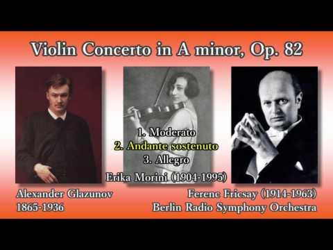 Glazunov: Violin Concerto, Morini & Fricsay (1958) グラズノフ ヴァイオリン協奏曲 モリーニ