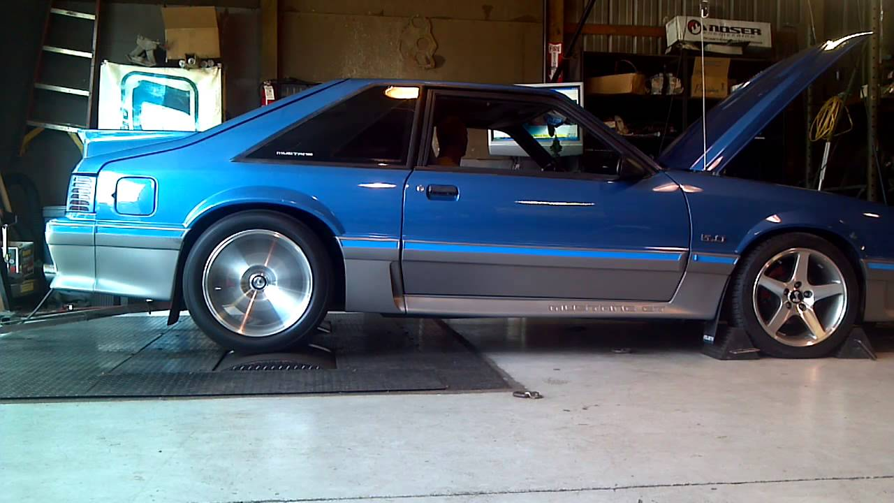 1988 ford mustang gt 347 dyno pull youtube