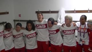 KK Cam Special- CANwnt after winning Bronze Medal singing Celine Dion