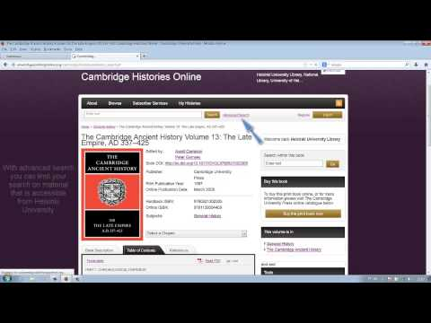 Reading and downloading an e-book – Cambridge Histories - Helsinki University Library