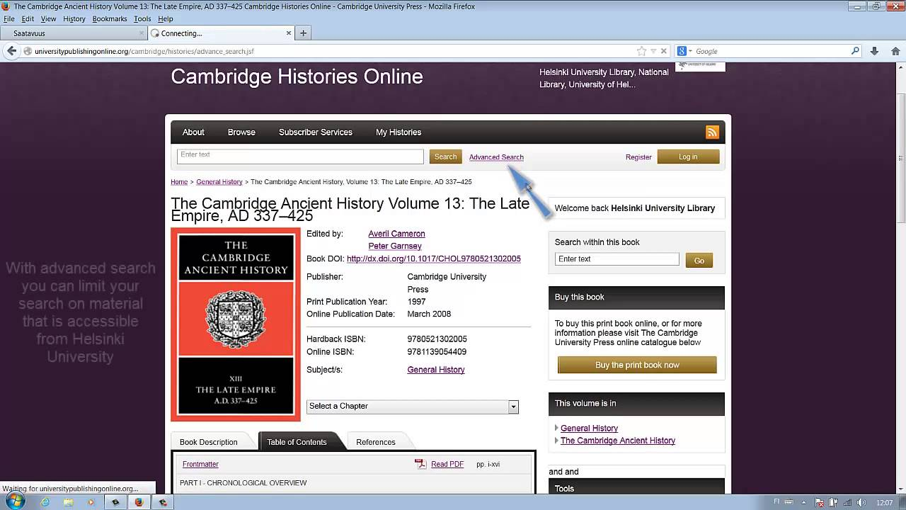 Reading And Downloading An Ebook €� Cambridge Histories  Helsinki  University Library