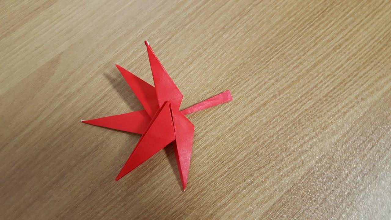 종이접기 origami - 단풍잎 maple leaf - YouTube - photo#43