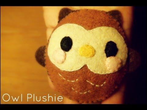 How To Sew A Kawaii Owl Plushie Tutorial - YouTube